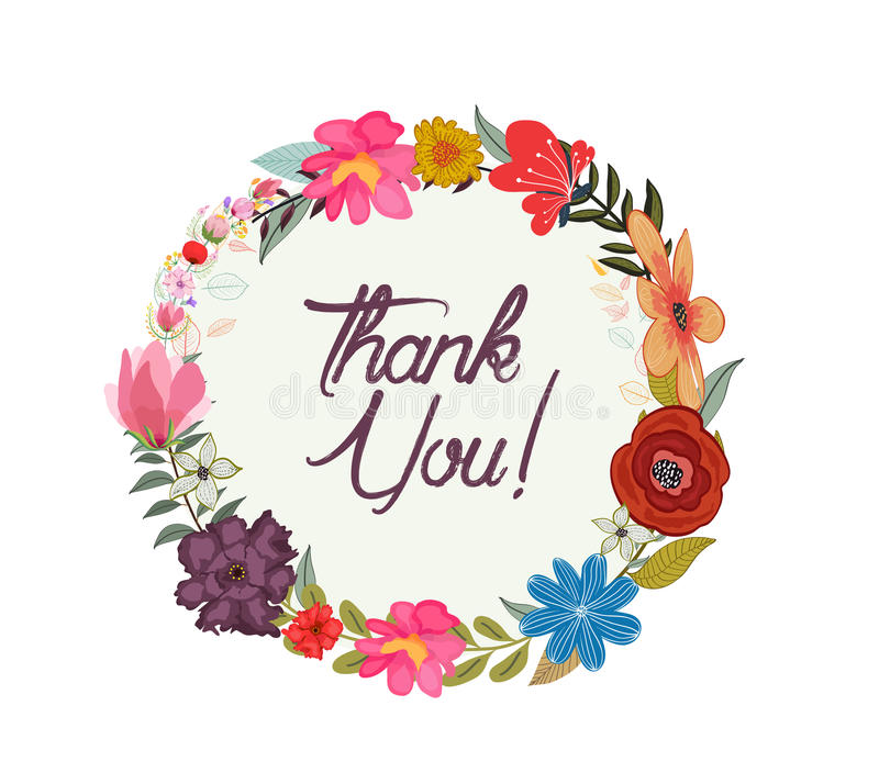 Винтажная поздравительная открытка акварели с зацветая цветками бесплатная иллюстрация
