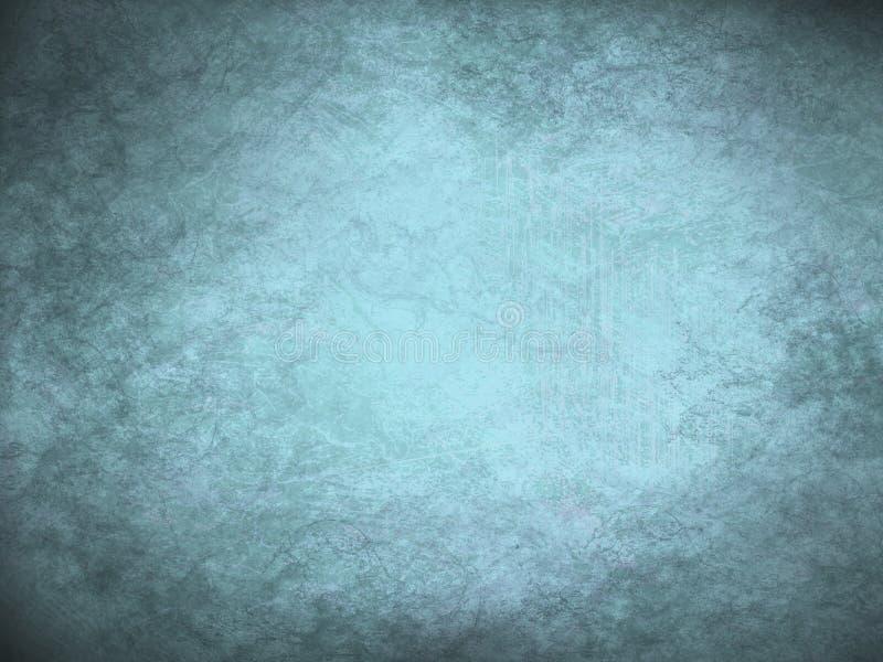 Винтажная предпосылка grunge льда сини и бирюзы современная абстрактная с яркой разбивочной фарой иллюстрация вектора