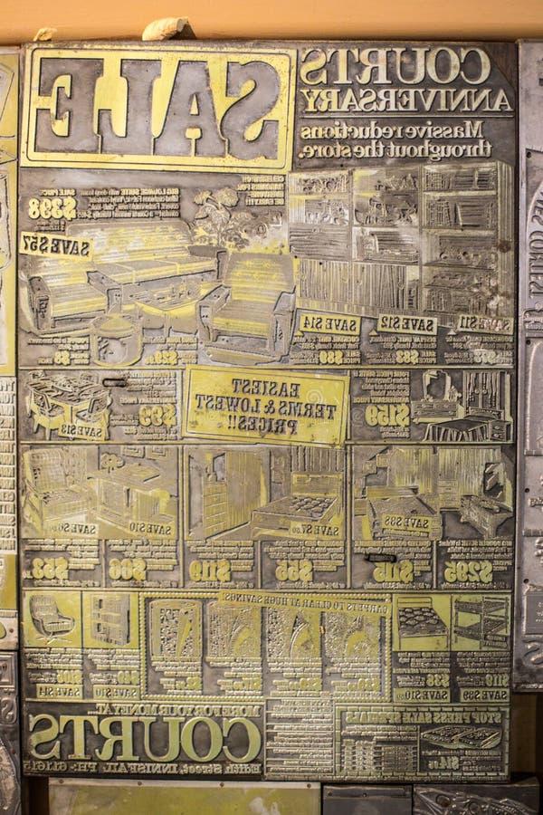 Винтажная пресса оформления стоковые фото