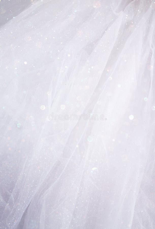 Винтажная предпосылка текстуры Тюль шифоновая лестницы портрета платья принципиальной схемы невесты wedding стоковые изображения rf