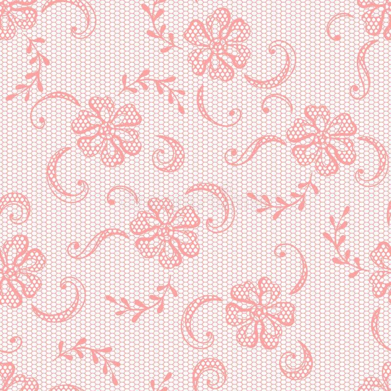 Винтажная предпосылка шнурка, орнаментальные цветки бесплатная иллюстрация