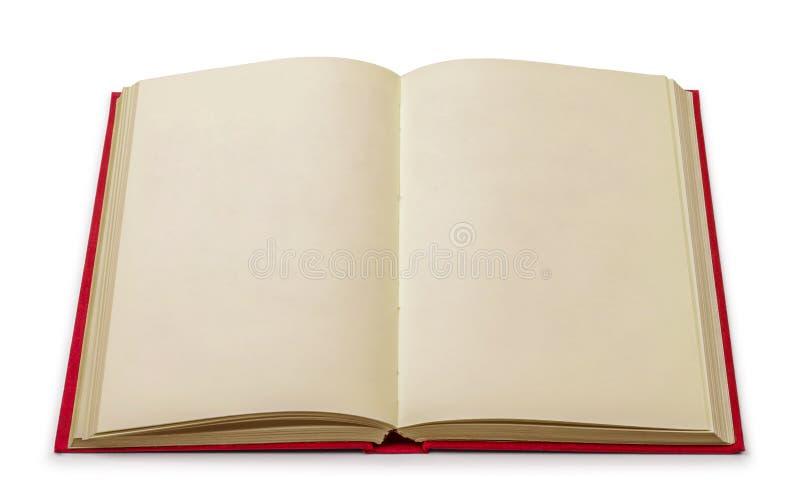 Винтажная пустая книга в красной крышке дальше стоковые изображения rf