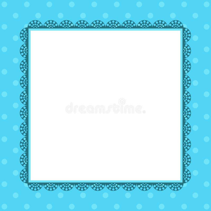 Винтажная рамка на картине точек польки ретро бесплатная иллюстрация