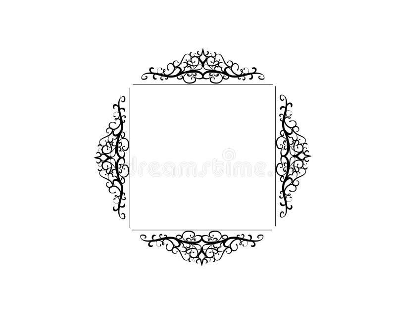Винтажная рамка свирли вектора иллюстрация штока