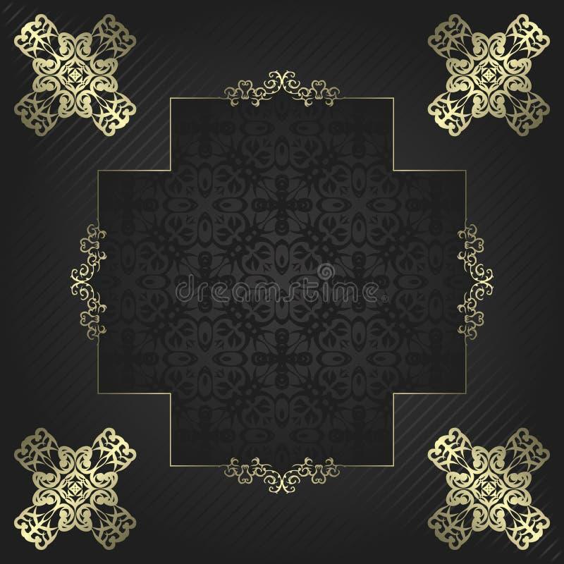 Download Винтажная рамка иллюстрация вектора. иллюстрации насчитывающей роскошь - 33735917