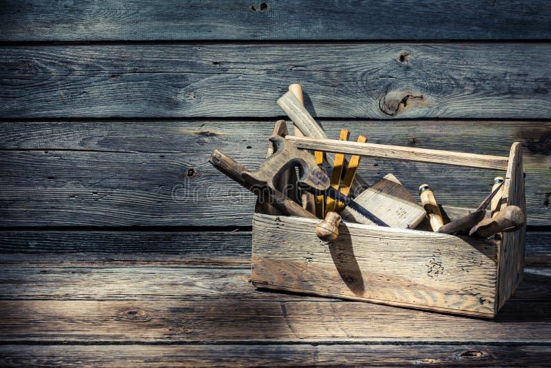 Винтажная резцовая коробка плотников стоковые изображения rf