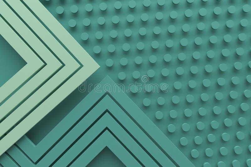 Винтажная ретро зеленая линия предпосылки картины цвета teal и точка 3 стоковые фотографии rf