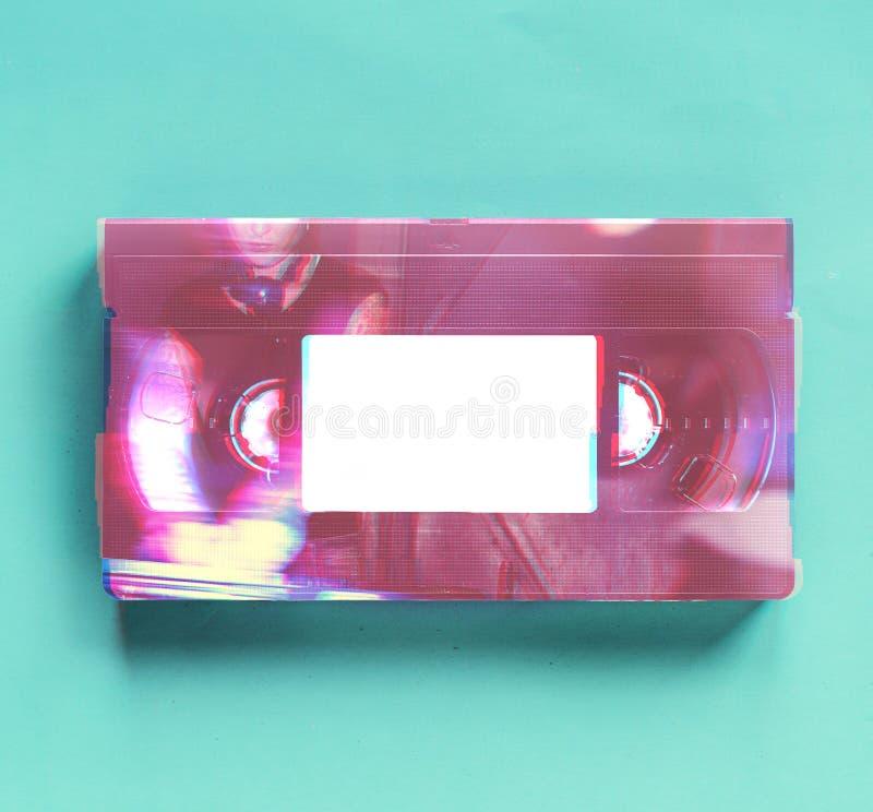 Винтажная ретро старая видеолента технологии стоковые фотографии rf