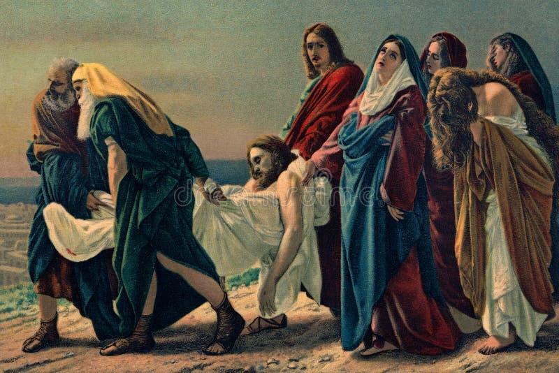 Винтажная ручная отточенная открытка Изображение вера христианства стоковое фото