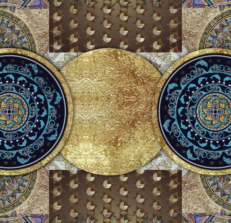 Винтажная старая абстрактная сделанная по образцу предпосылка иллюстрация штока