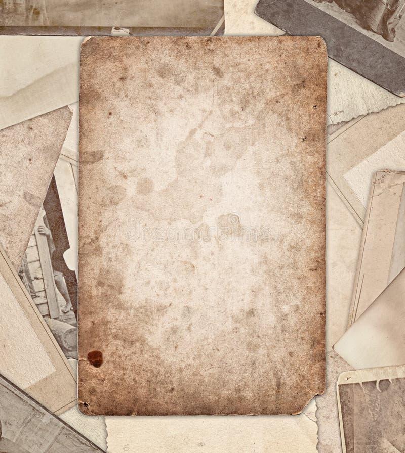 Винтажная старая граница фото стоковая фотография