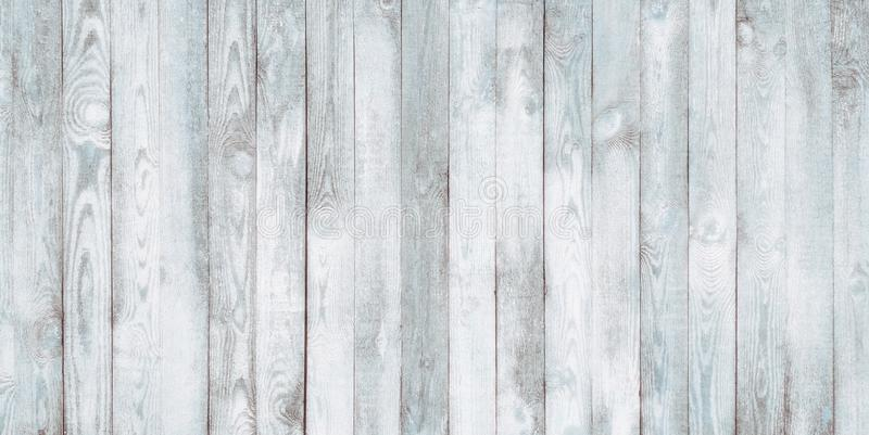 Винтажная старая затрапезная белая голубая деревянная предпосылка стены стоковое фото rf