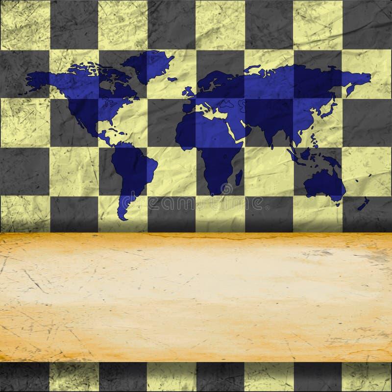 Download Винтажная старая поцарапанная пустая шахматная доска Иллюстрация штока - иллюстрации насчитывающей пусто, отказ: 41663137