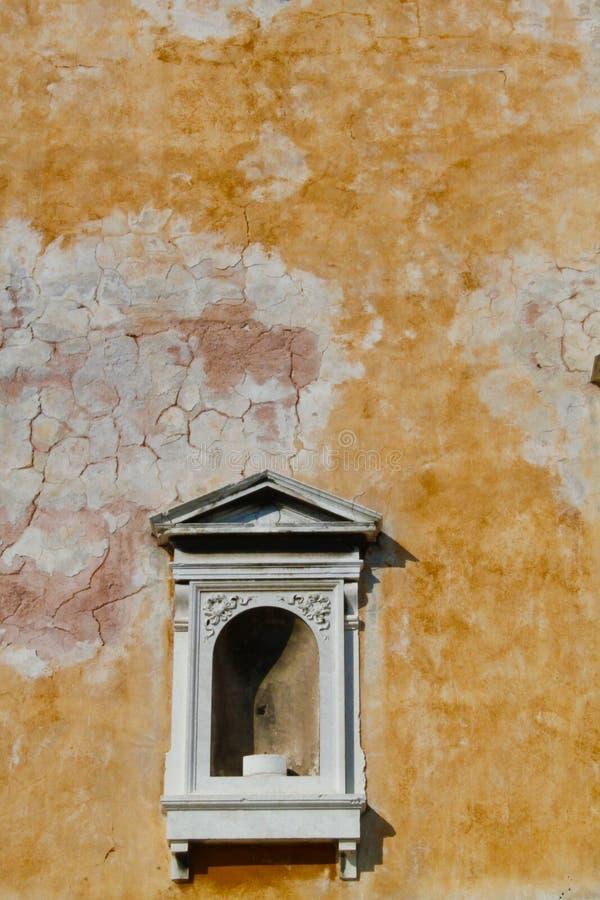 Винтажная стена, Венеция Италия стоковая фотография rf