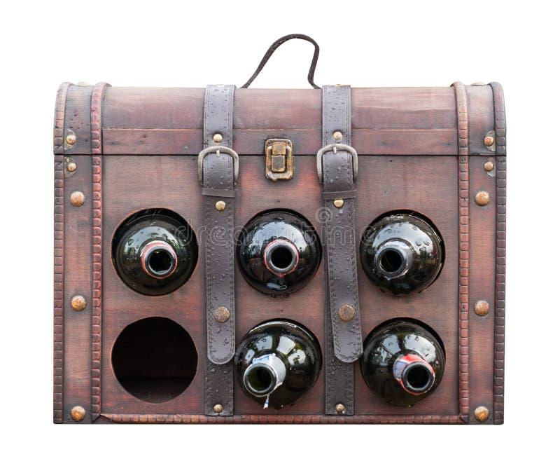Винтажная сумка вина isloated на белизне с путем клиппирования стоковое изображение