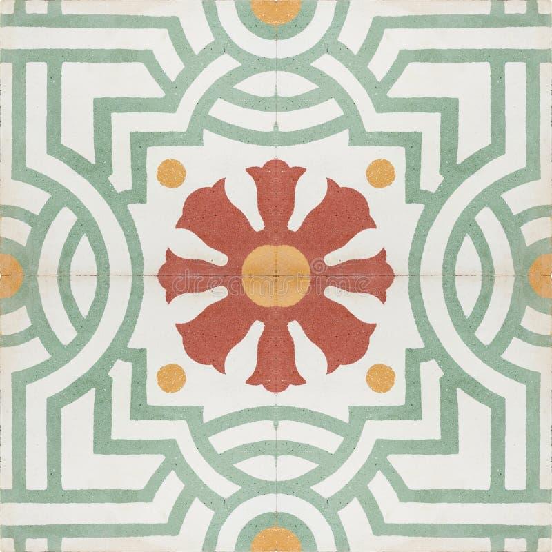 Винтажная текстура картины плитки пола стиля стоковое изображение rf