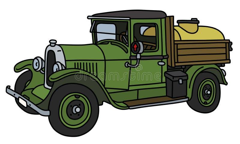 Винтажная тележка танка бесплатная иллюстрация