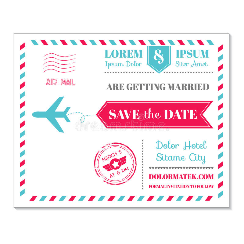 Download Винтажная тема воздушной почты открытки Иллюстрация вектора - иллюстрации насчитывающей save, airbrush: 40582451
