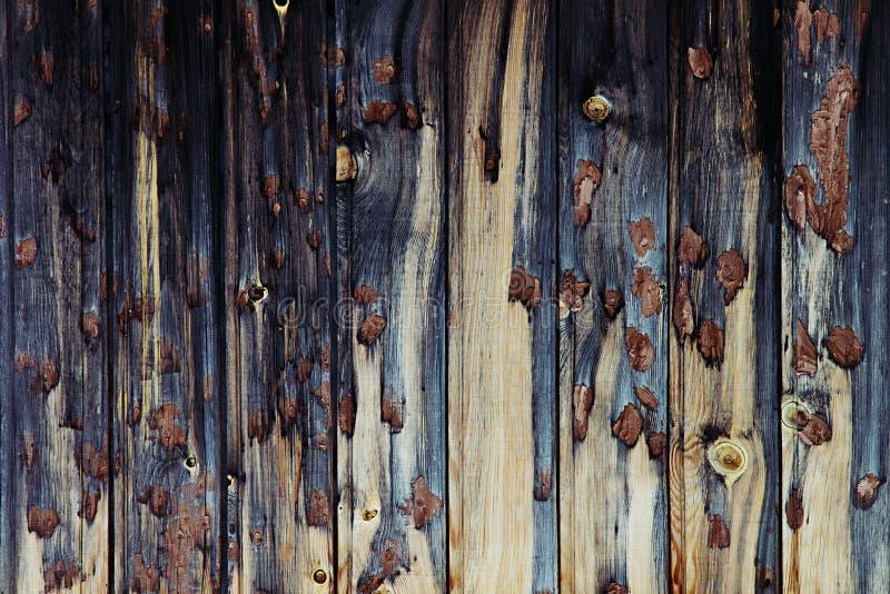 Винтажная темная деревянная предпосылка Бежевая и синяя старая доска Деревянная предпосылка стоковые изображения rf