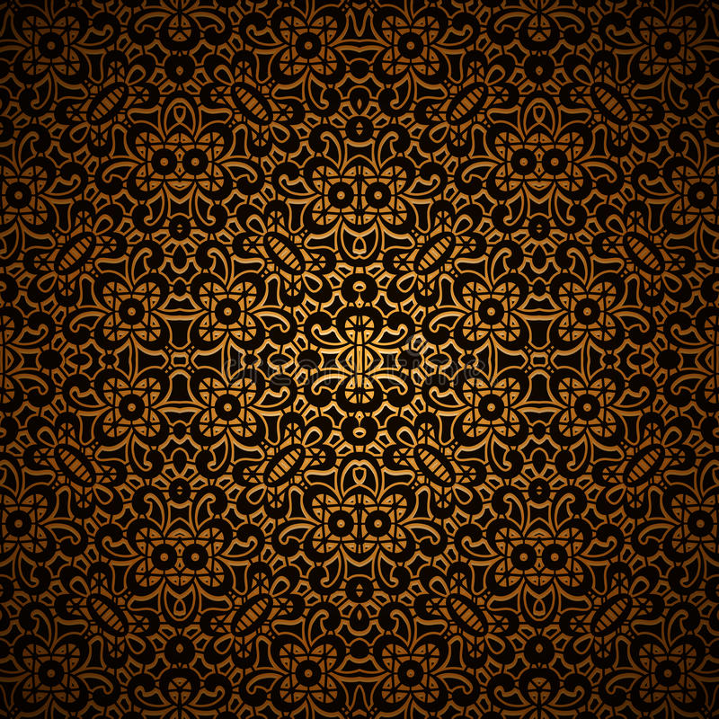 Винтажная темная предпосылка золота с орнаментом решетки бесплатная иллюстрация
