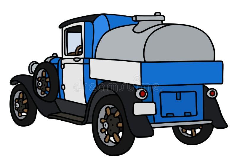 Винтажная тележка танка молокозавода иллюстрация вектора