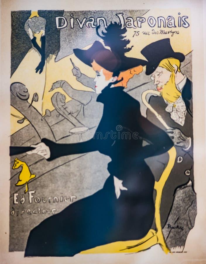 Винтажная французская обложка журнала nouveau искусства стоковые изображения rf