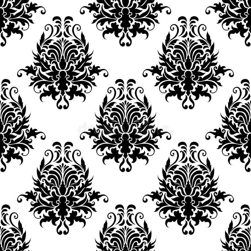 Download Винтажная флористическая безшовная картина Иллюстрация вектора - иллюстрации насчитывающей декор, ретро: 40587311