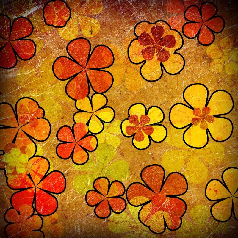 Винтажная флористическая предпосылка иллюстрация штока