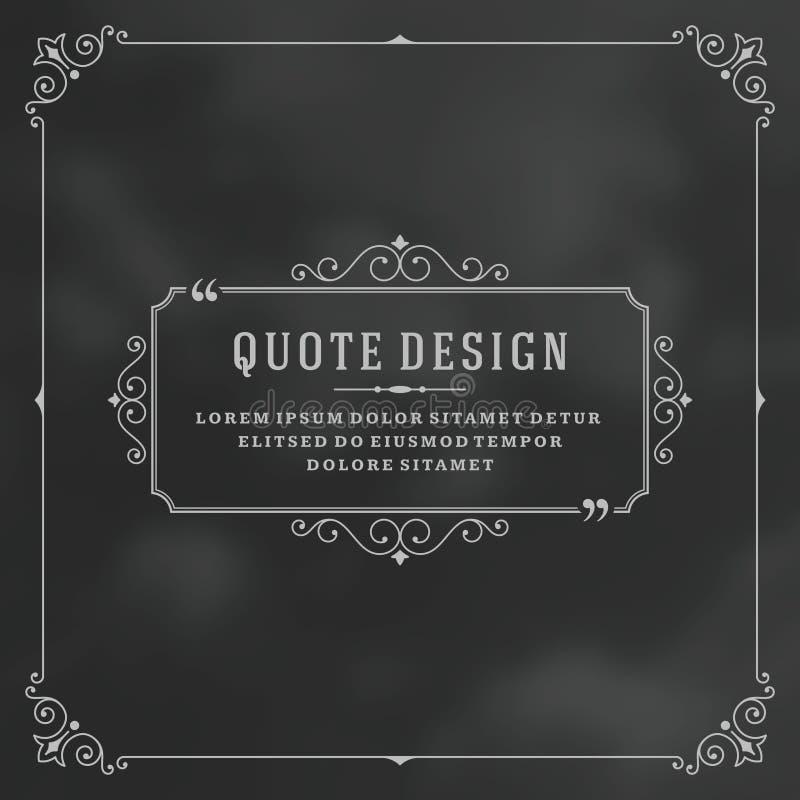 Винтажная цитата орнамента отметит вектор рамки коробки бесплатная иллюстрация