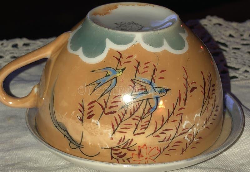 Винтажная чашка чая стоковые фото
