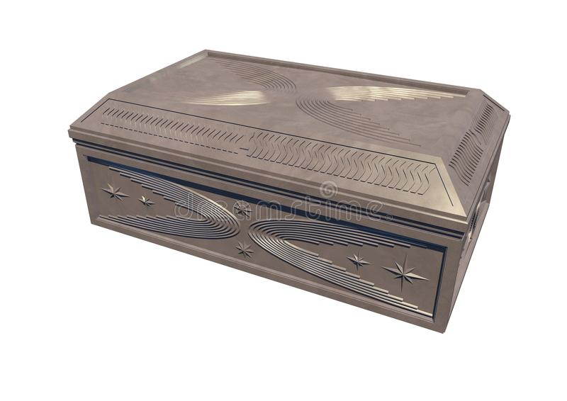 Винтажная шкатулка для драгоценностей (светлый камень) стоковые фото