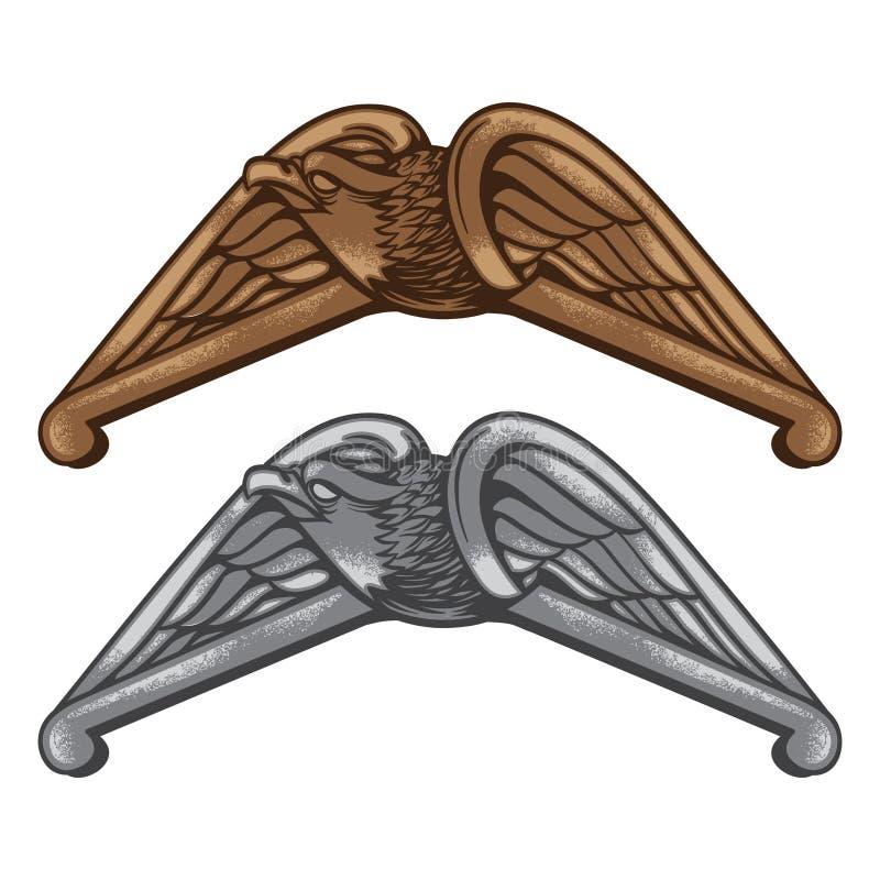 Винтажная эмблема орла стоковая фотография
