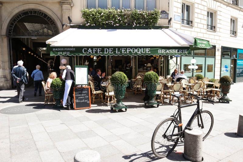 Винтажная эпоха de Красавицы кафа, Париж, Франция стоковые изображения rf