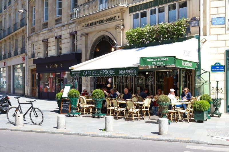 Винтажная эпоха de Красавицы кафа, Париж, Франция стоковые фото