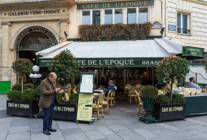 Винтажная эпоха de Красавицы кафа, Париж, Франция стоковое фото rf