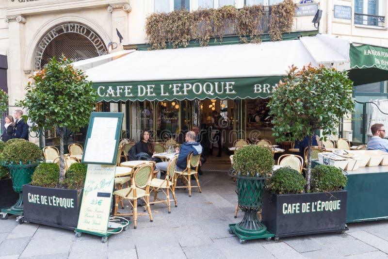 Винтажная эпоха de Красавицы кафа, Париж, Франция стоковые фотографии rf