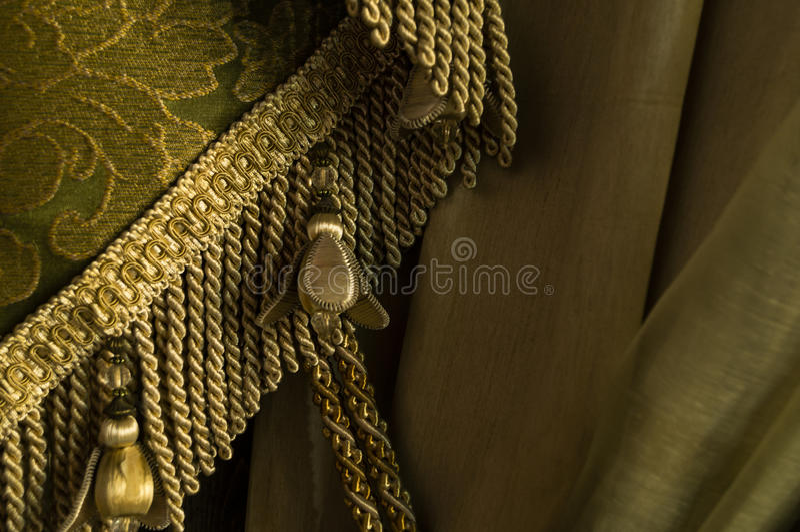 Винтажная элегантная ткань с краем стоковые фотографии rf