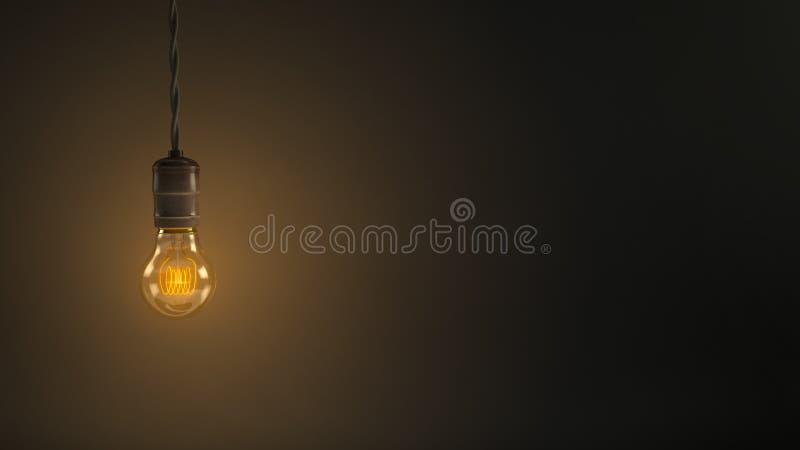 Винтажная электрическая лампочка смертной казни через повешение стоковые фото