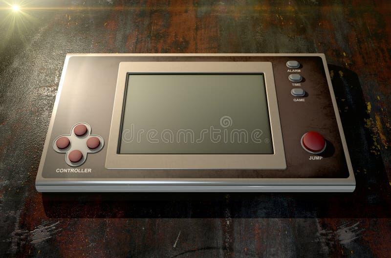 Винтажная Handheld видеоигра иллюстрация вектора