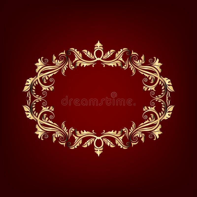 Винтажное богато украшенное знамя иллюстрация штока
