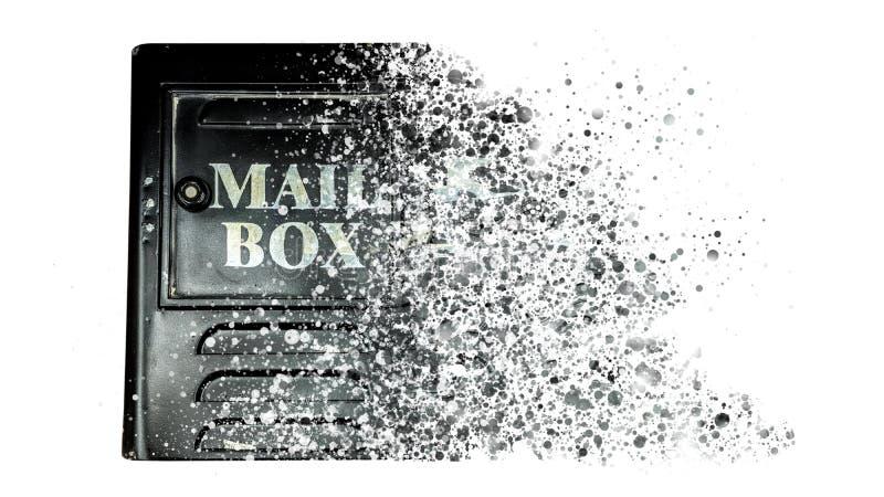 Винтажное влияние коробки письма которое разбрасывает иллюстрация штока