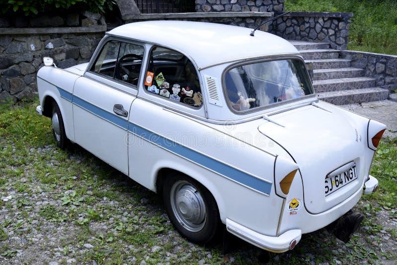 Винтажное восточное - немецкий Trabant автомобиль 501 стоковые фото