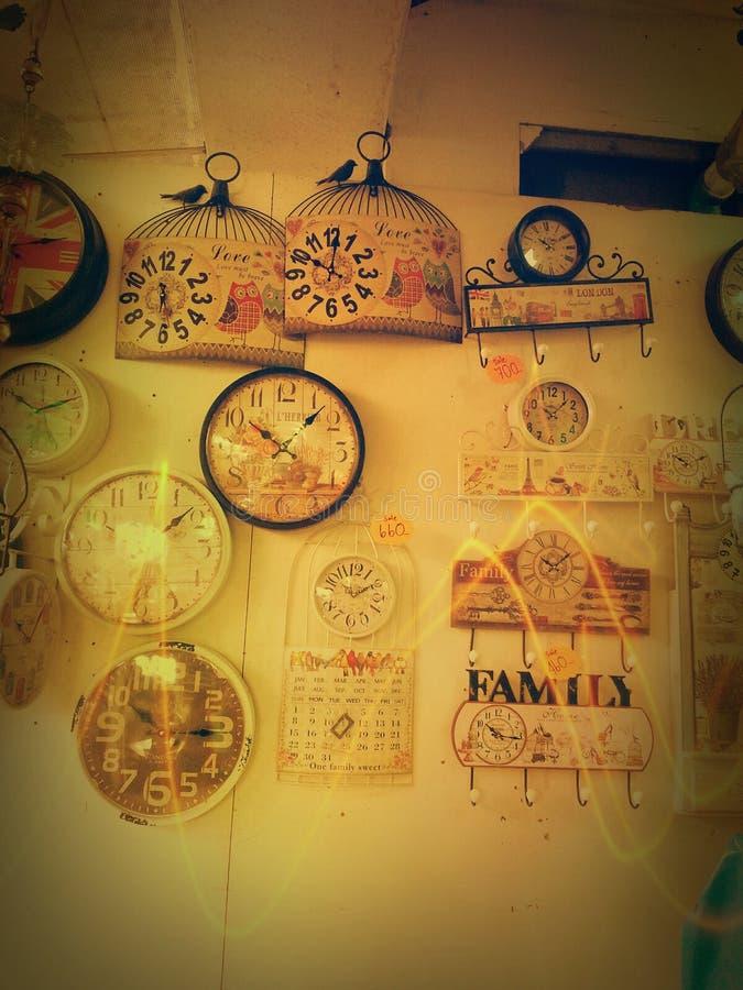 Винтажное время магазина дизайна часов стоковые фотографии rf