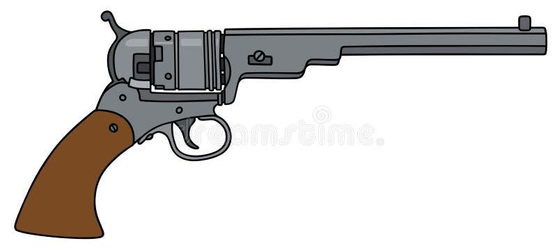 Винтажное длинное американское личное огнестрельное оружие иллюстрация вектора