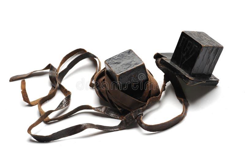 Винтажное еврейское tefillin стоковые изображения rf