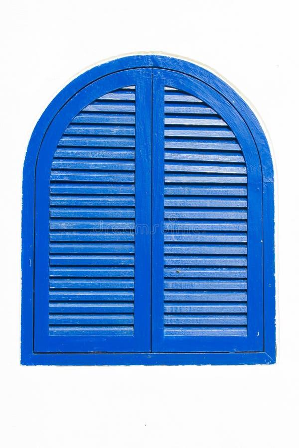 Винтажное деревянное голубое окно стоковые фото