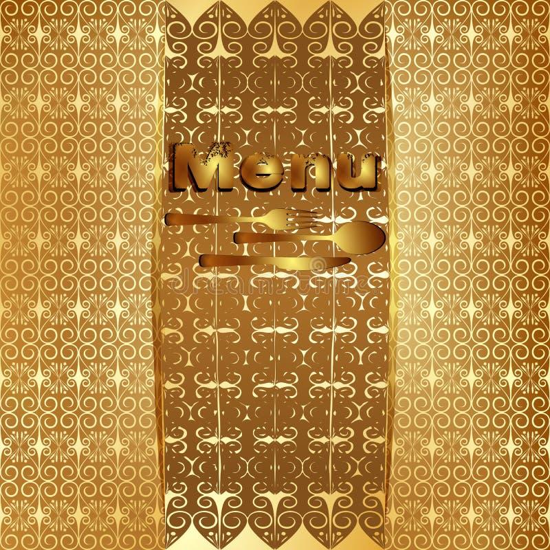 Винтажное золото 4 крышки меню бесплатная иллюстрация