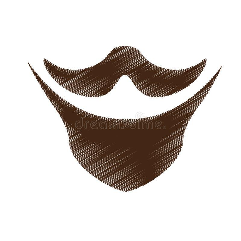 Download Винтажное изображение значка волос на лице Иллюстрация вектора - иллюстрации насчитывающей лицево, эскиз: 81800487