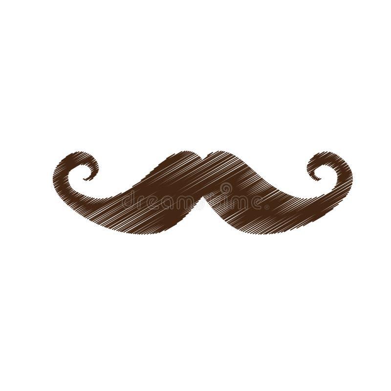 Download Винтажное изображение значка волос на лице Иллюстрация вектора - иллюстрации насчитывающей способ, disguise: 81800511