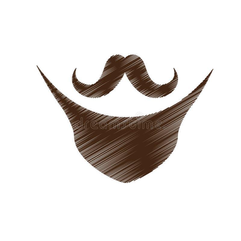 Download Винтажное изображение значка волос на лице Иллюстрация вектора - иллюстрации насчитывающей фальшивка, собрание: 81800517